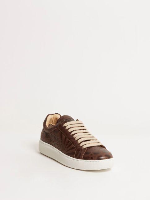 Kingsley Moroni B Sneakers astera dark brown front view