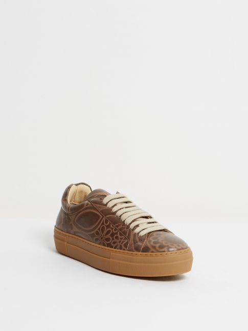 Kingsley Moroni Sneakers astera brown front view