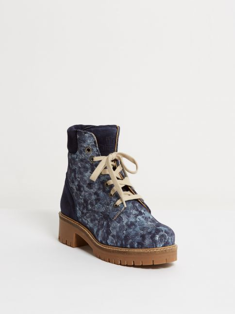 Kingsley Regina 01 Biker Boot Blue Storm Deep Front View
