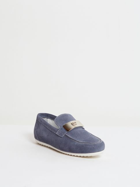 Kingsley Mazy 02 loafers for women in the color jeans blue front view