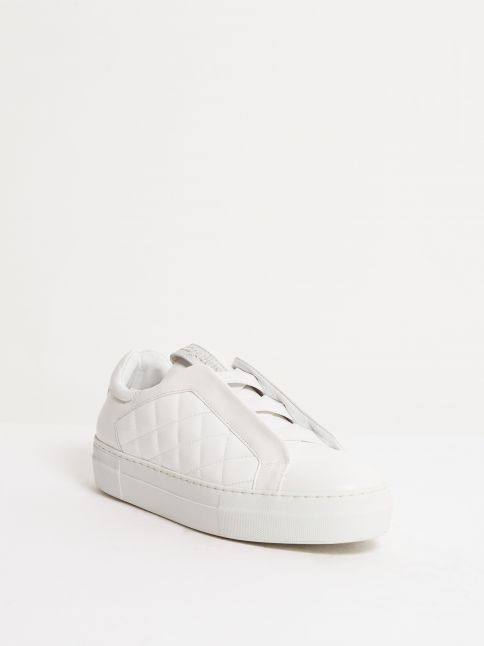 Kingsley Cross Sneakers white, roma white front view