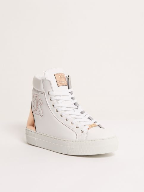 Kingsley Run Sneakers white, shiny rose front view