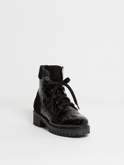 Kingsley Regina A Biker Boot croco bril black Front View