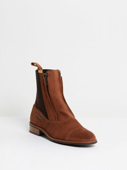 Kingsley Zambia Chelsea Boots tharros bruciatto front view