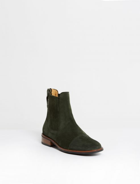 Kingsley Berlin Chelsea Boots sensory militair front view