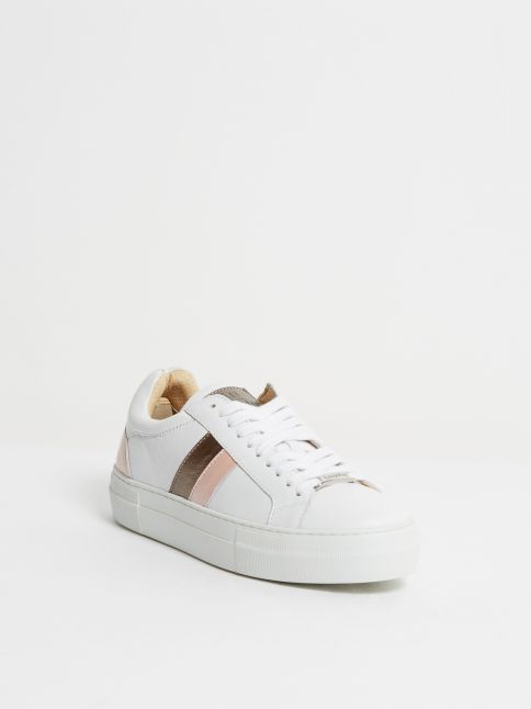 Kingsley Star Sneakers white, oister, rose, bronze front view