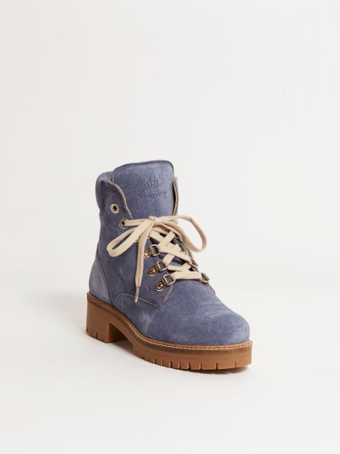 Kingsley Regina 01 Biker Boot Jeans Blue Front View
