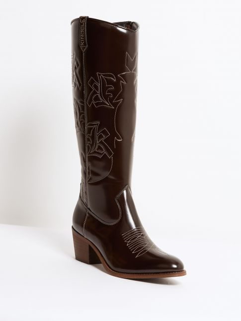 Kingsley Galloway Boot uragano dark brown front view
