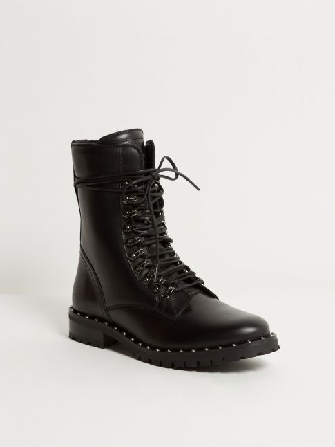 Kingsley Kaya Biker Boots nature black front view