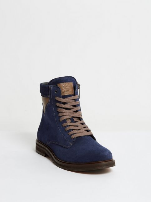 Kingsley Stone High Shoes sensory navy nappa front view