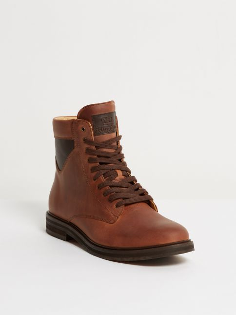 Kingsley Stone High Shoes gaucho chestnut, nature brown front view