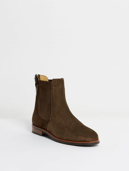 Kingsley Berlin Chelsea Boots sensory coffee front view