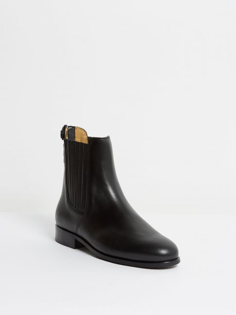 Kingsley Berlin Chelsea Boots nature black front view