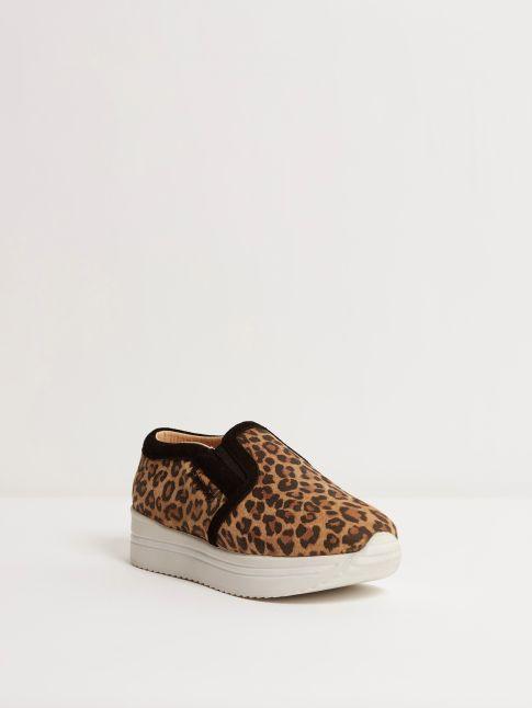 Kingsley Fanny Sneakers jaguar, sensory black front view
