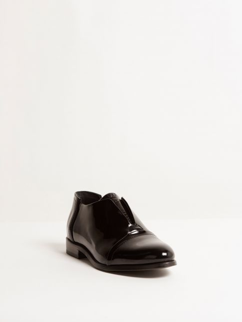 Kingsley Sintra Shoes patent black front view
