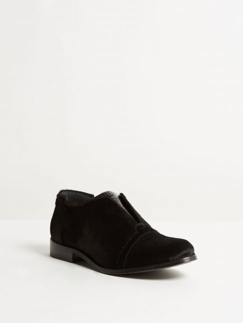 Kingsley Sintra Shoes Limited Edition black fur front view