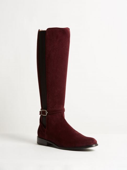 Kingsley Lauren Boot sensory burgundy front view
