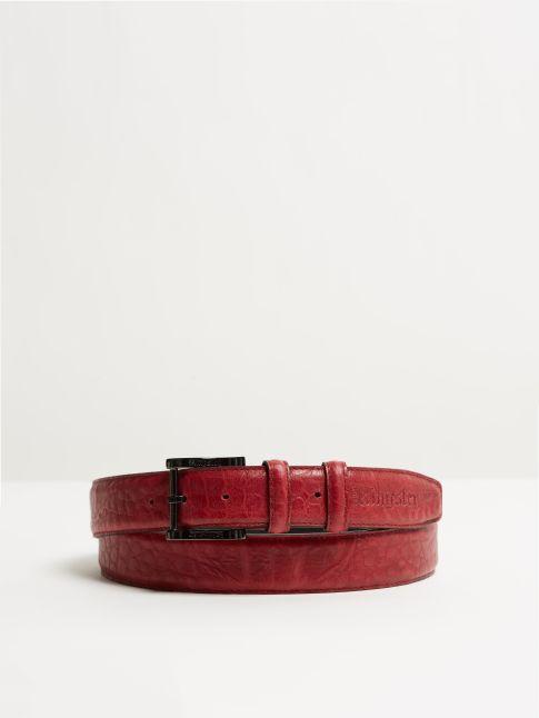 Kingsley Belt alligator red