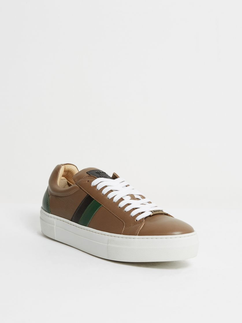 Kingsley Star Sneakers madonna taupe, verde preto front view