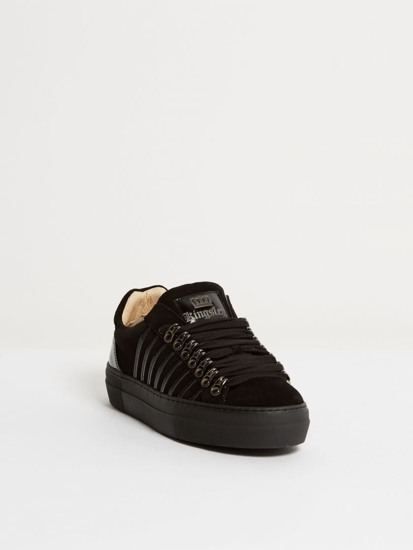 Kingsley Sky Sneakers sensory black, roma black front view