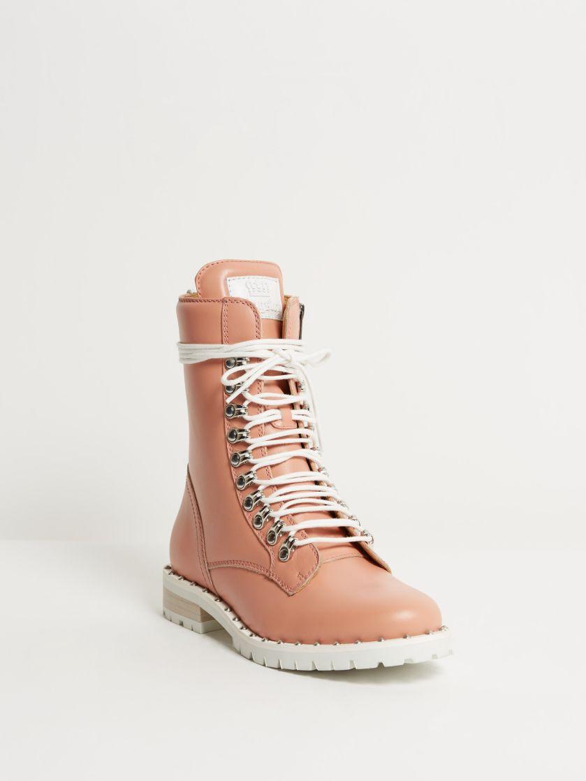 Kingsley Kaya Biker Boots nature rosa front view