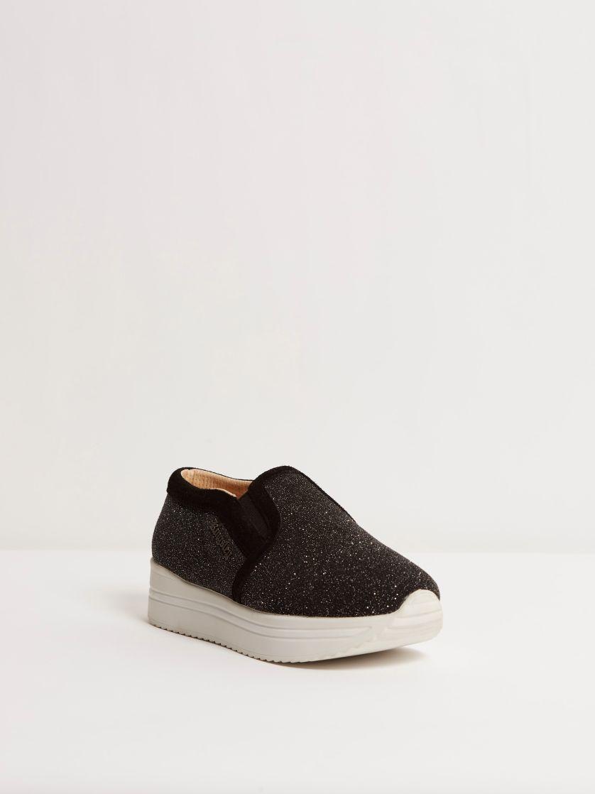 Kingsley Fanny Sneakers stardust black, sensory black front view