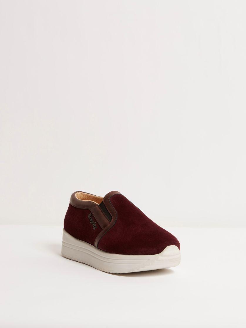 Kingsley Fanny Sneakers sensory burgundy, oister bordeaux front view