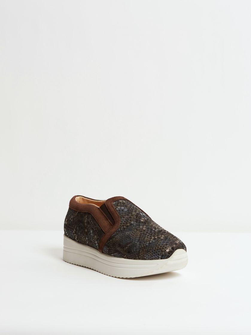 Kingsley Fanny Sneakers boa blue, sensory pepe front view