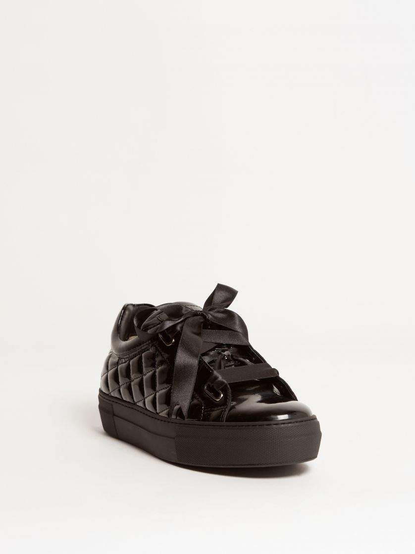 Kingsley Joy Sneakers patent black front view