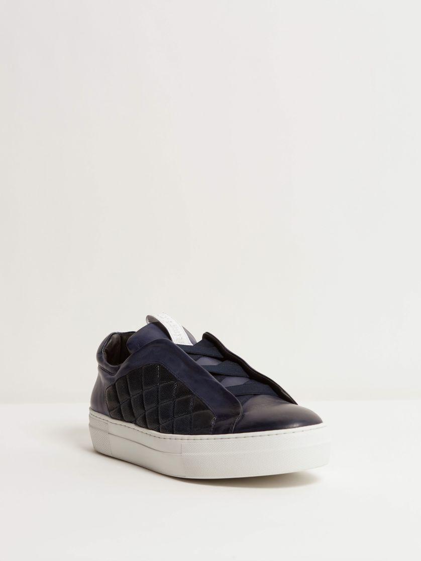 Kingsley Cross Sneakers blue front view